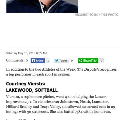 Dispatch Athlete of the Week