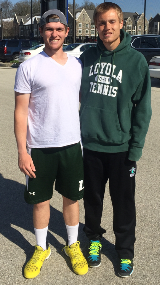 Cash Ties Doubles Wins Record for Loyola